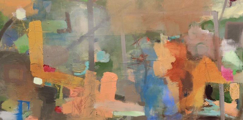 Random 24 x 48 acrylic on gallery wrapped canvas Painting by Artist Buddy LaHood