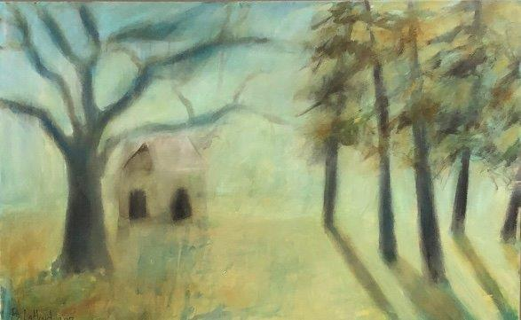 Clubhouse 36 x 48 Artist Buddy LaHood Landscape Painting