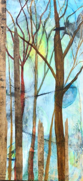 Plywood Forest 36 x 70 Landscape Painting by Artist Buddy LaHood