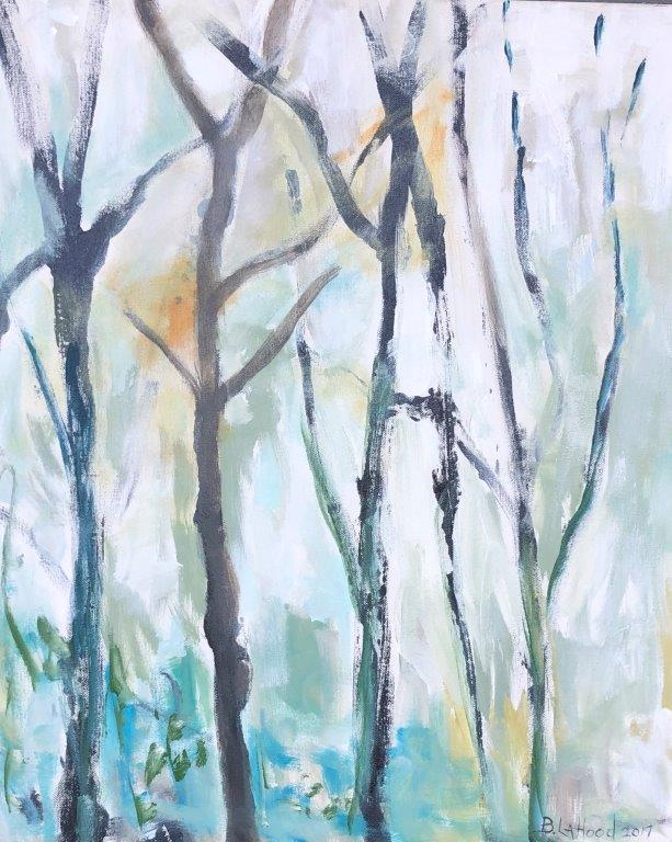 Twigs 20 x 24 Landscape Painting by Artist Buddy LaHood