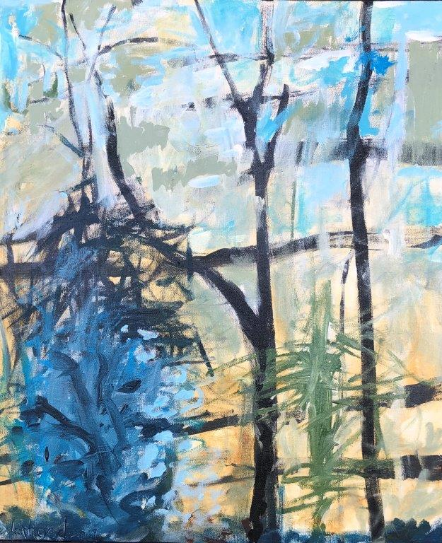 Blue Bush 20 x 24 Landscape Painting by Artist Buddy LaHood