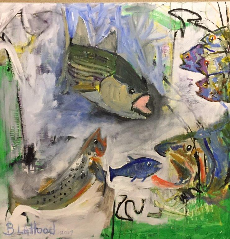 Food Chain 36 x 36 Painting by Artist Buddy LaHood