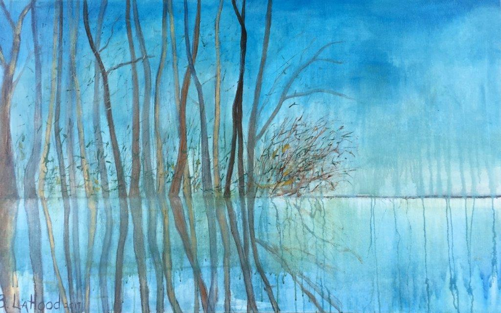 Reflection 48 x 30 Landscape Painting by Artist Buddy LaHood