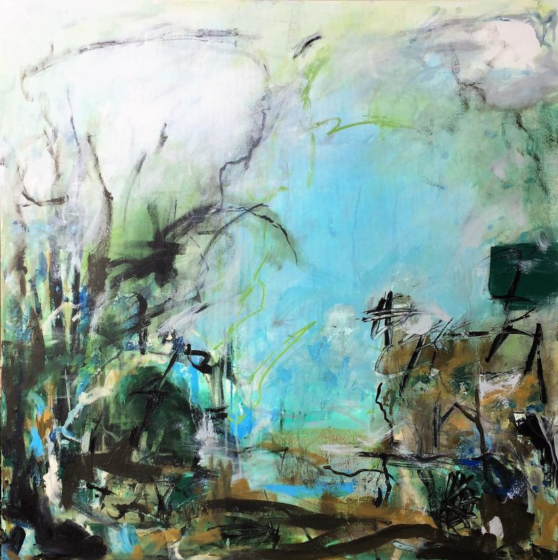 Abstract Pond Painting by Artist Buddy LaHood