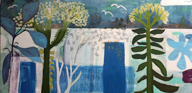 Blue Gardens Landscape Painting by artist Buddy LaHood