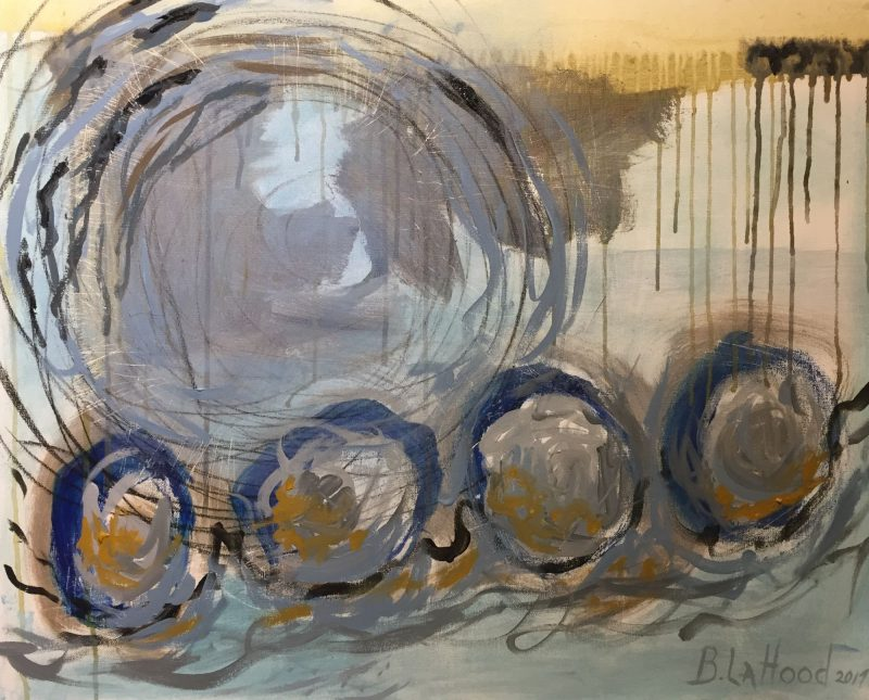 Circles acrylic and graphite on canvas by Artist Buddy LaHood