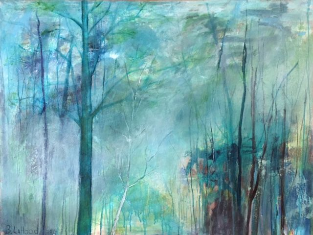 Foggy Blue Woods Paintings by artist Buddy LaHood