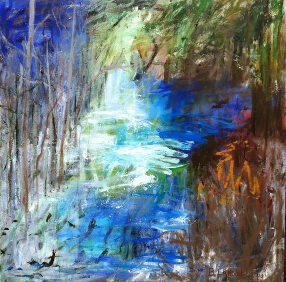Little River Backflow Landscape Painting by Artist Buddy LaHood