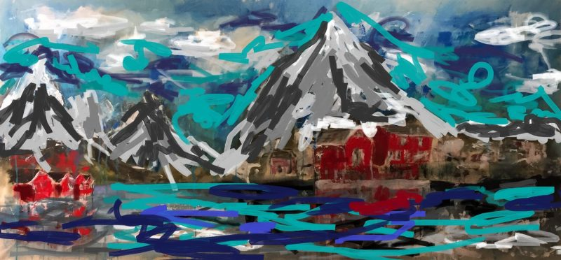 Lofoton Islands painting by artist Buddy LaHood