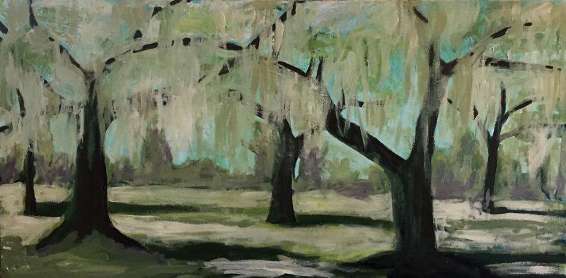 Oak Grove Landscape Painting by Artist Buddy LaHood