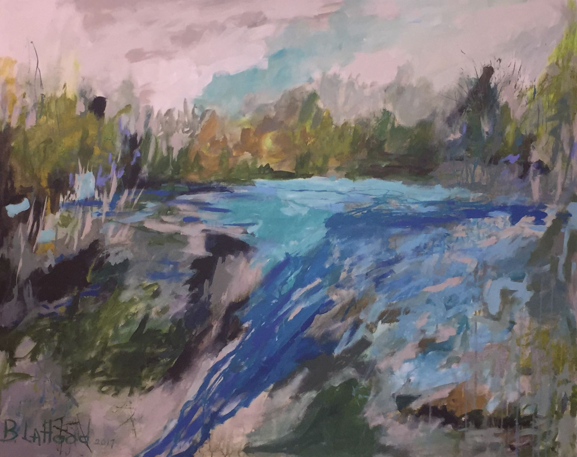 Streams Landscape Painting by Artist Buddy LaHood