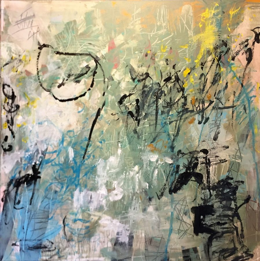 Weeds Abstract Painting by Artist Buddy LaHood