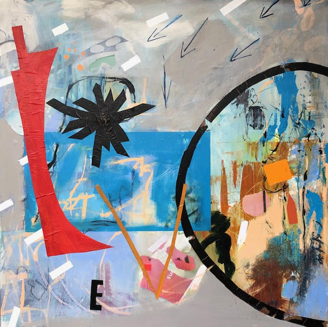 Love II abstract painting by artist Buddy LaHood